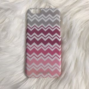 Accessories - Case for Apple iPhone 6 - Pink gray white chevron